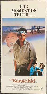 The Karate Kid Poster Original Daybill Style A 1984 Ralph Macchio Martial Arts