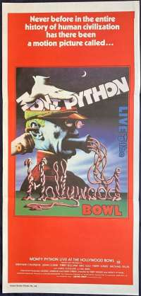 Monty Python Live At The Hollywood Bowl Poster Daybill John Cleese Terry Gilliam