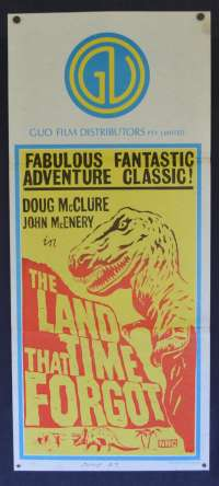 The Land That Time Forgot Poster Original Daybill 1975 Doug McClure Rare ART