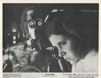 Star Wars Movie Still Reproduction B/W Princess Leia C-3PO Droid
