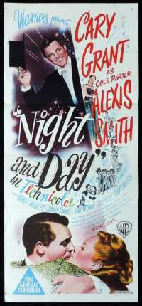 Night And Day Poster Original Daybill 1946 Cary Grant Alexis Smith Cole Porter