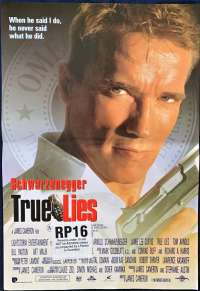 True Lies Poster Daybill Mini Original 1994 Schwarzenegger Jamie Lee Curtis