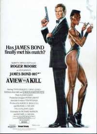 A View To A Kill Poster Original 1985 Cinema Flyer James Bond Roger Moore