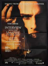 Interview With The Vampire Poster Original One Sheet 1994 Tom Cruise Brad Pitt