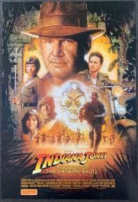 Indiana Jones And The Kingdom Of Crystal Skull Movie Poster Original One Sheet 2008