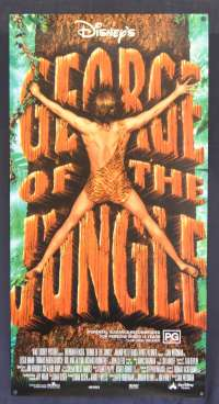 George Of The Jungle Daybill Poster Original Rolled 1997 Disney Brendan Fraser