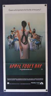 April Fool's Day Poster Original Daybill Rare 1986 Deborah Foreman Slasher