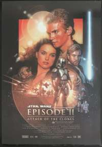 Star Wars Episode 2 Attack Of The Clones Poster Original One Sheet 2002 Struzan Art