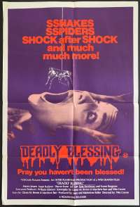 Deadly Blessing Poster Original One Sheet 1981 Sharon Stone Wes Craven