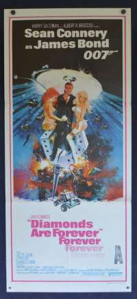 Diamonds Are Forever Poster Original Daybill 1971 Sean Connery James Bond