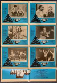 A Force Of One Poster Original Photosheet 1979 Chuck Norris Martial Arts