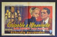 Beyond Reasonable Doubt Movie Poster 1956 Fritz Lang Joan Fontaine