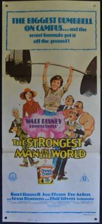 The Strongest Man In The World Daybill Poster 1975 Disney Kurt Russell Joe Flynn