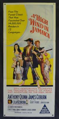 A High Wind In Jamaica Daybill Poster 1965 Anthony Quinn James Coburn Pirates