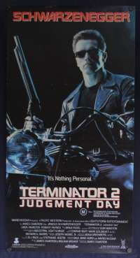 Terminator 2 Judgment Day Daybill Poster Original Schwarzenegger Cyborg