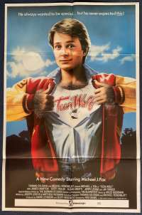 Teen Wolf Poster Original One Sheet Rare 1985 Michael J. Fox Back To The Future