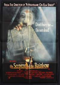 The Serpent And The Rainbow 1988 One Sheet movie poster Wes Craven Rob Cohen