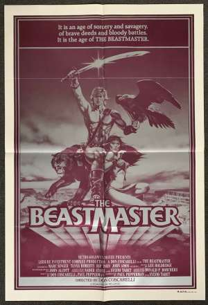 The Beastmaster 1982 One Sheet movie poster Tanya Roberts Marc Singer