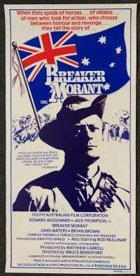 Breaker Morant Daybill Poster No Folds 1980 Rare Alternate Art Jack Thompson
