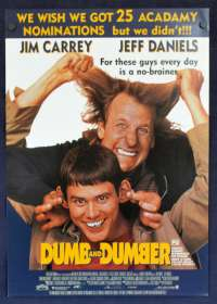 Dumb and Dumber 1994 Flyer movie poster Jim Carrey Jeff Daniels Peter Farrelly