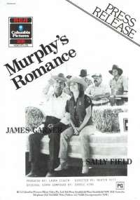 Murphy's Romance 1985 Home Video 1986 2 Page Press Release James Garner