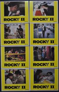 Rocky 2 1979 Sylvester Stallone Boxing 11x14 Lobby Card Set USA