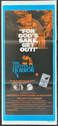The Amityville Horror Poster Original Daybill 1979 James Brolin Margot Kidder