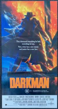 Darkman Movie Poster Original Daybill 1990 Liam Neeson Sam Raimi
