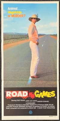Road Games 1981 movie poster Daybill Jamie Lee Curtis Stacey Keach