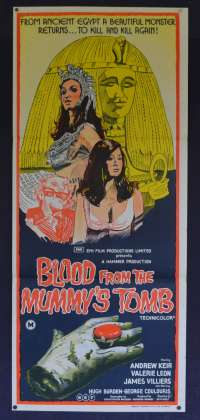 Blood From The Mummy's Tomb Poster Daybill Original 1971 Hammer Horror