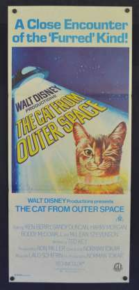 The Cat From Outer Space Poster Original Daybill 1978 Disney Ken Berry