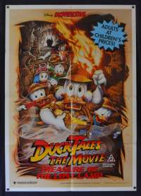 DuckTales The Movie Treasure Of The Lost Lamp Poster Original One Sheet 1990