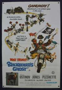 Blackbeard's Ghost Poster Original One Sheet 1976 Re-Release Peter Ustinov Disney