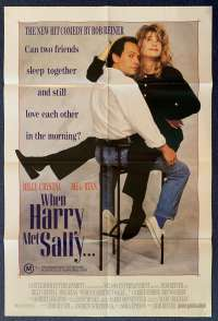 When Harry Met Sally Poster Original One Sheet 1989 Billy Crystal Meg Ryan Comedy