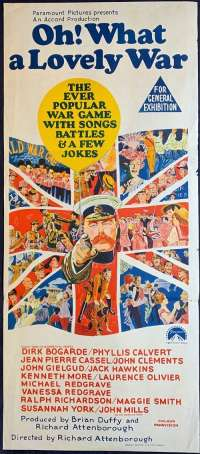Oh What A Lovely War Poster Original Daybill 1969 Kenneth Moore