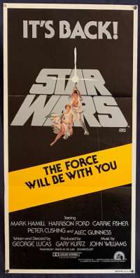 Star Wars Movie Poster Original Daybill 1981 It's Back Tom Jung Art