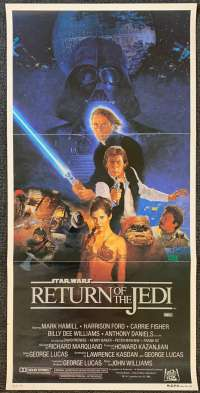Return Of The Jedi Poster Original Daybill 1983 Star Wars Style B Sano Art