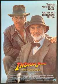 Indiana Jones And The Last Crusade Poster Original One Sheet 1989 USA International