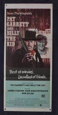 Pat Garrett And Billy The Kid Poster Original Daybill 1973 Sam Peckinpah Western