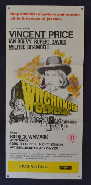 The Witchfinder General Poster Daybill Original 1968 Vincent Price Horror