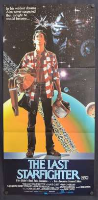 The Last Starfighter Poster Original Daybill 1984 Lance Guest Space