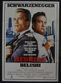 Red Heat Movie Poster One Sheet Schwarzenegger Belushi