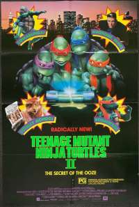Teenage Mutant Ninja Turtles 2 Poster Original One Sheet 1990 TMNT 2 Martial Arts