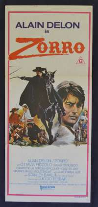 Zorro Movie Poster Original Daybill 1975 Alain Delon Stanley Baker