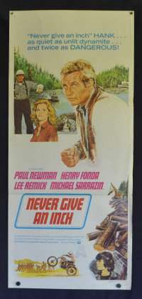 Never Give An Inch Poster Original Daybill 1971 Aka Sometimes A Great Notion