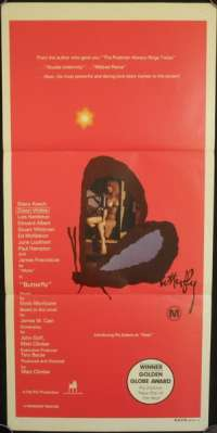 Butterfly 1982 Pia Zadora Daybill movie poster