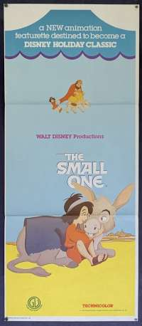 The Small One 1978 Daybill Movie Poster Disney Animation Don Bluth