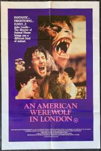 An American Werewolf In London Movie Poster Original One Sheet John Landis