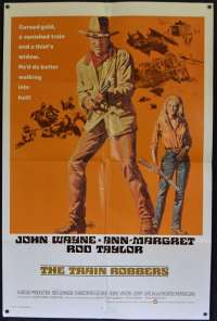The Train Robbers Poster Original USA International One Sheet 1973 John Wayne