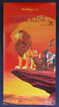 The Lion King Poster Original Daybill ROLLED Disney Animated Cast Characters Art